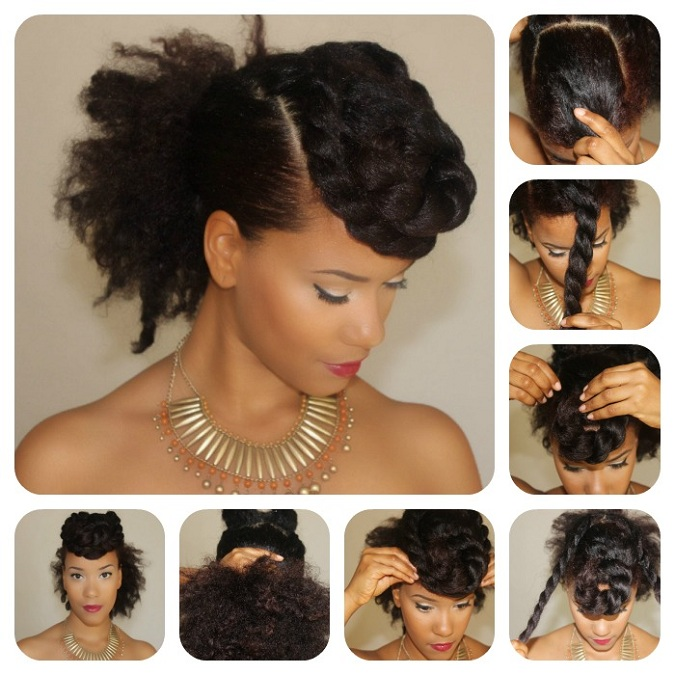 Simple Braided Hairstyles For Medium Natural Hair : Diy yasmin felice