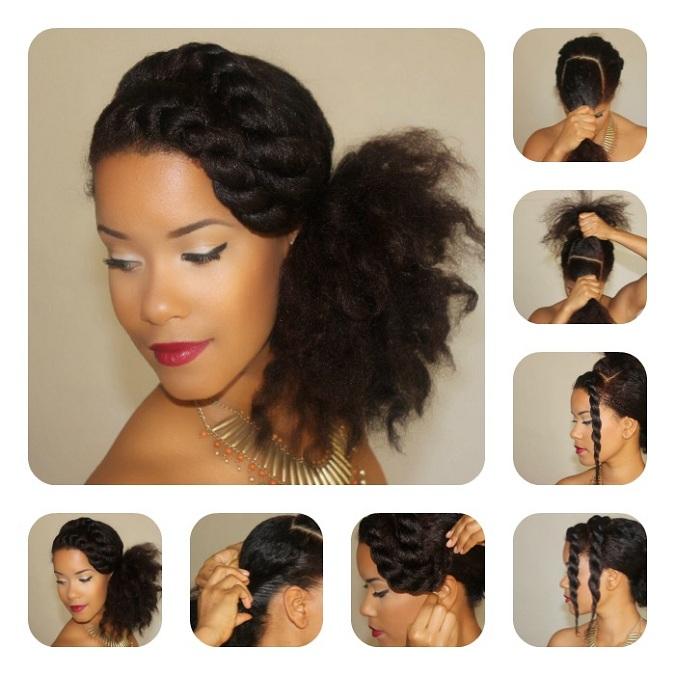 Phenomenal Diy Sunday Easy Natural Hair Hairstyles Yasmin Felice Hairstyles For Men Maxibearus
